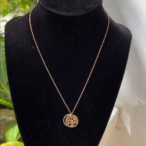 TREE OF LIFE GOLD & SILVER NECKLACE